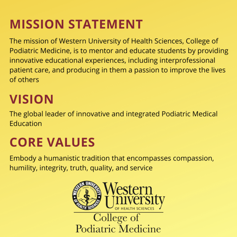 WesternU CPM Mission, Vision, and Core Values