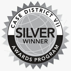 CASE District VII Silver Award Seal
