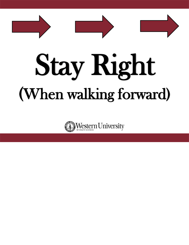 Stay right poster