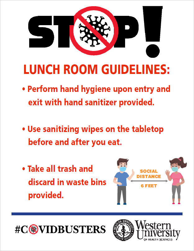 Lunch Room Guidelines poster