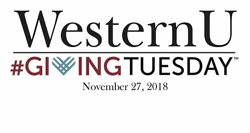 WesternU Giving Tuesday 2018 Logo