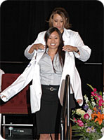 Graduating Student Receives White Coat