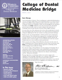 CODM Bridge Fall 2012 Issue