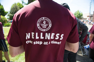 picture of a Wellness red-shirt
