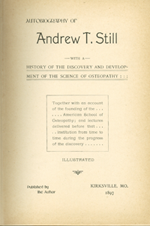 Page from Autobiography of Andrew T. Still