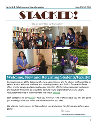Fall 2016 Library Newsletter