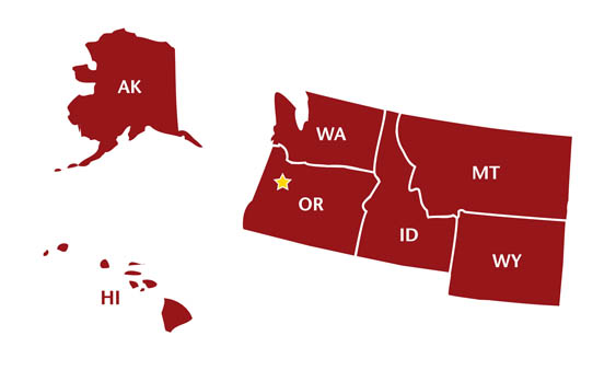 picture of states included in Northwest territory