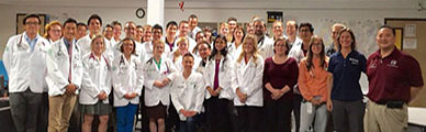 picture of students in white coats