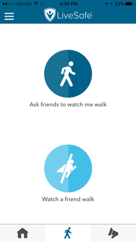 "Ask a friend to ""watch"" you or you ""watch"" a friend"