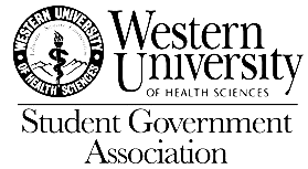 Western University of Health Sciences -- Student Government Association Logo