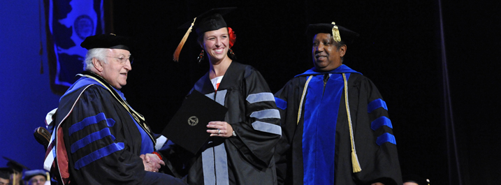 CVM student receives her diploma at commencement