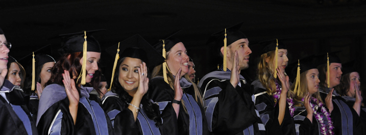 CVM students taking a veterinary oath at graduation